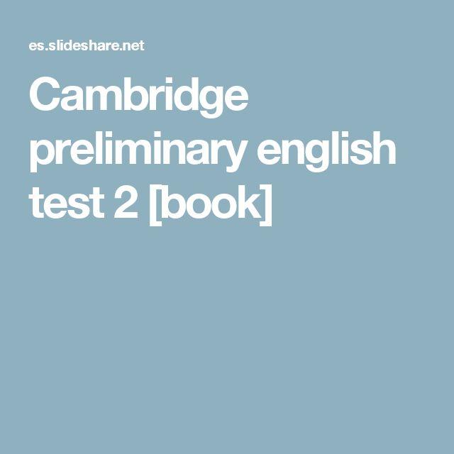 Great Cambridge preliminary english test book