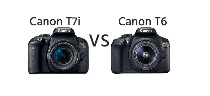 Canon T7i vs Canon T6 Comparison   https://dslrcamerasearch.com/canon-t7i-vs-canon-t6-comparison-2/ Today, we will be looking at a camera comparison for two models which have been released exactly a year apart. Whether you are looking for an upgrade ...  https://dslrcamerasearch.com/canon-t7i-vs-canon-t6-comparison-2/