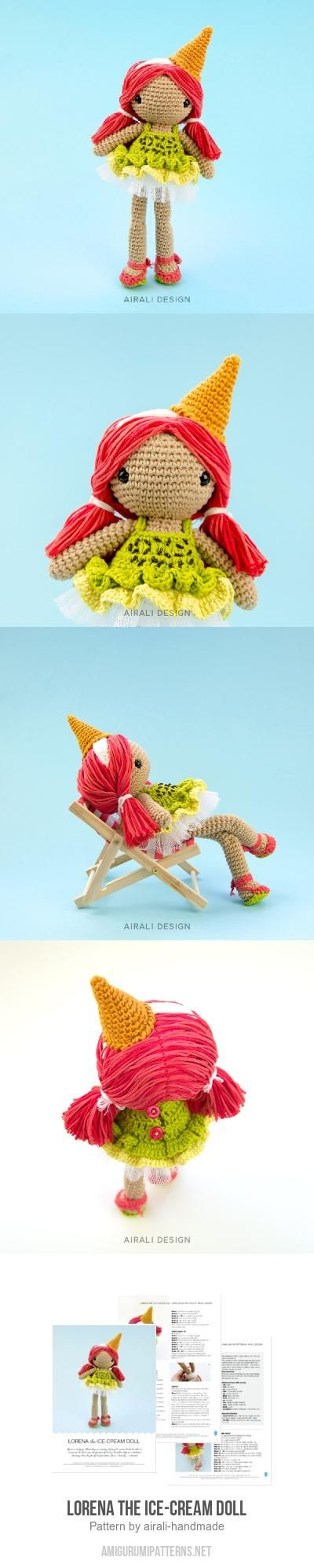 Lorena The Ice-cream Doll Amigurumi Pattern