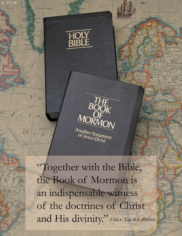 LDS Quote. Both the Bible and the Book of Mormon are the word of God. Search, ponder and pray.  The Spirit will guide, and you'll know the Scriptures are true.