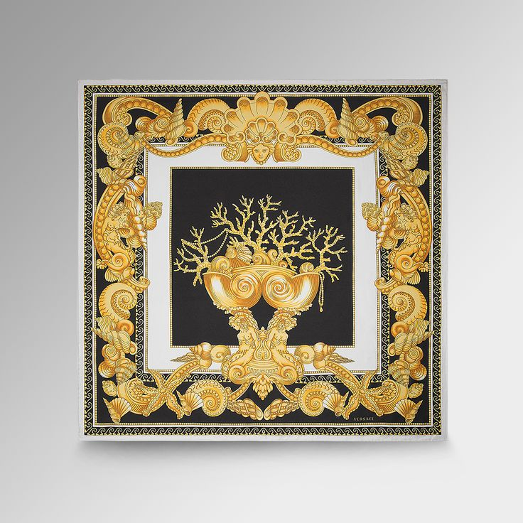 Leave her in awe with a Baroque Oceanic foulard, pure elegance on versace.com