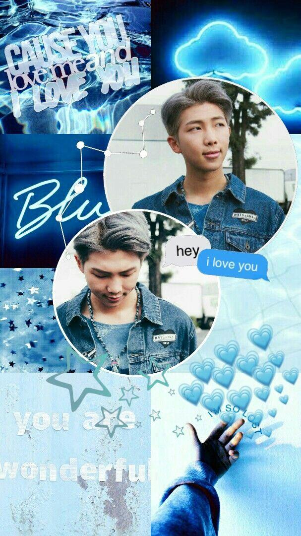Jin Bts Cute Wallpaper Kim Namjoon Bts Rm Edit Aesthetic Wallpaper Lockscreen