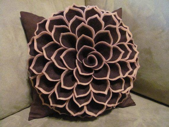 Sophia felt flower pillow tutorial + PDF pattern:  $6
