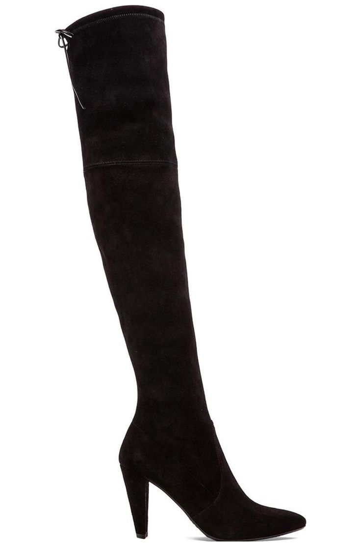 Stuart Weitzman Highstreet Suede Boot in Black | REVOLVE
