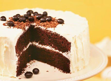 Gâteau danois au chocolat et café nappé de glaçage au beurre et à la vanille Recette