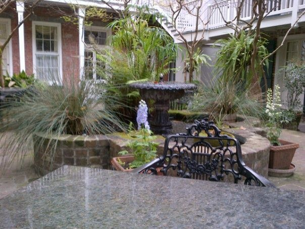 The courtyard of the Place d'Armes in New Orleans, LA. Good memories of sitting around eating crawfish with @Lisa Williams, @Teri Robinson and @Beverly MacKenzie LOVED New Orleans!
