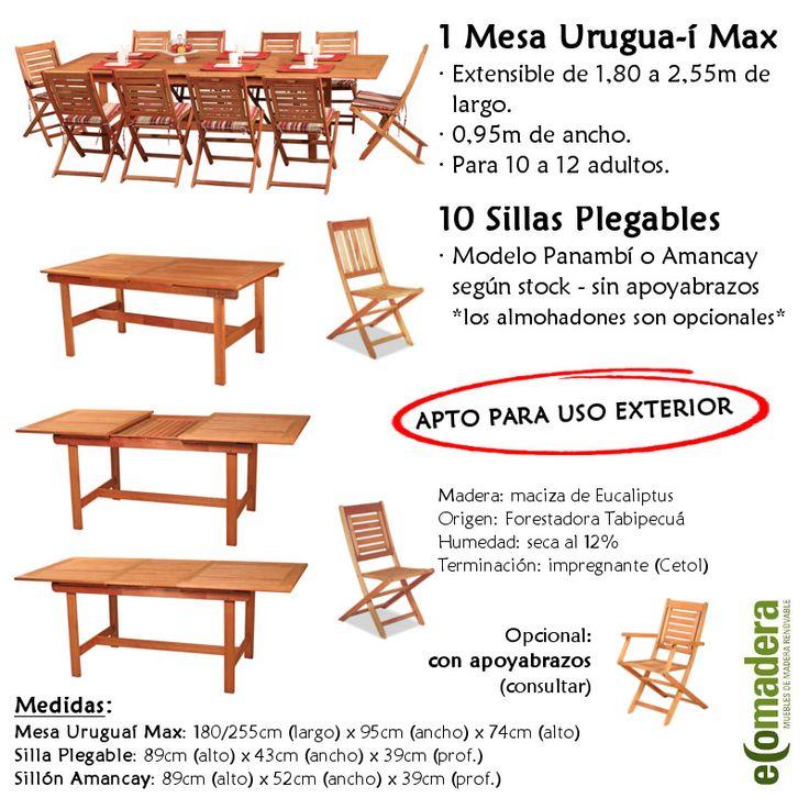 17 mejores ideas sobre mesas y sillas plegables en for Muebles el zamorano