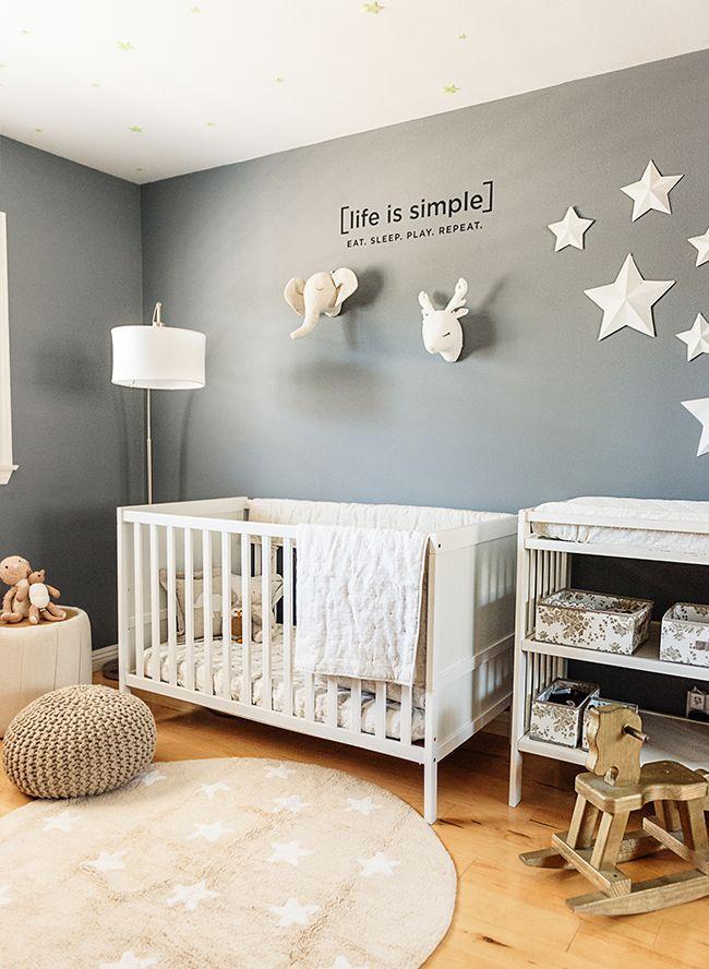 Notre pépinière d'animaux gris et crème   – Gender Neutral Nursery Inspiration