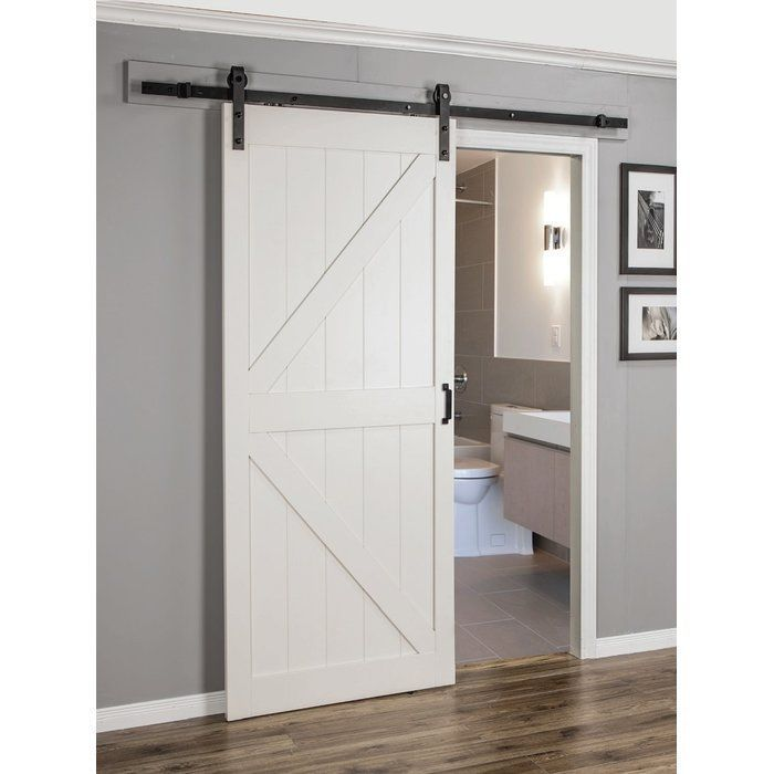 Mobile Home Replacement Doors Exterior: Paneled Manufactured Wood Finish Continental Barn Door