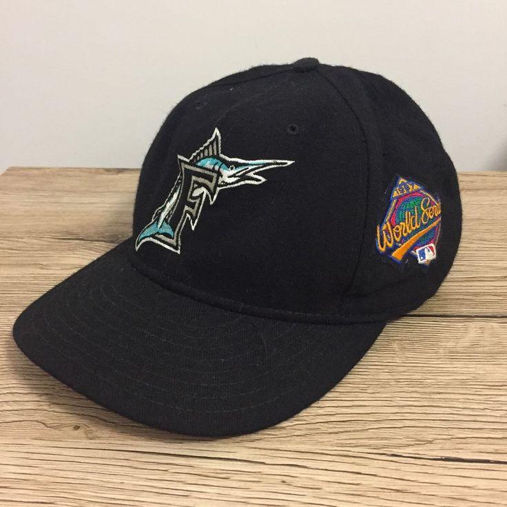 Florida Marlins 1997 World Series Fitted Vintage New Era 7 1/2 Hat Cap 90's Wool  | eBay