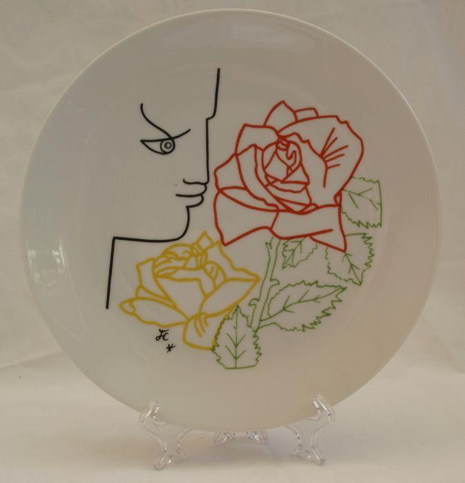 Jean Cocteau - Beschilderd porseleinen bord Editions d'Art