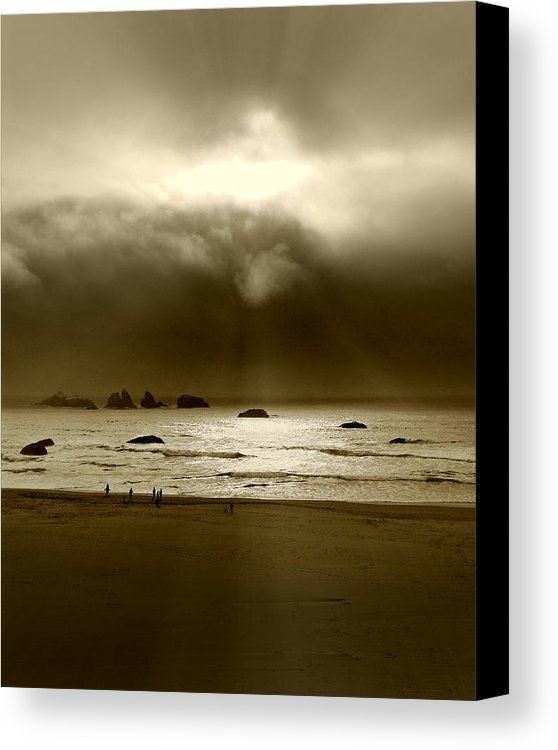 Evening Rays Canvas Print featuring the photograph Evening Rays by Micki Findlay