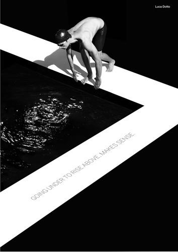 A Emporio Armani lançou a campanha EA7, com atletas olímpicos italianos para os jogos de 2012. Nesta foto, o nadador Luca Dotto.