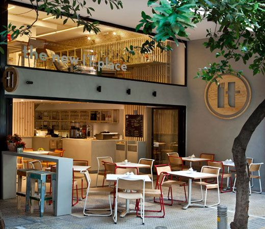 Unique and flexible café interior simple decor low cost ...