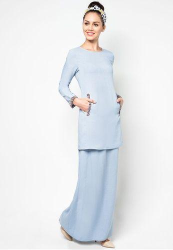 Soft Linen Baju Kurung by Melinda Looi #zalora