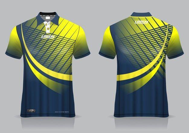 Download T Shirt Polo Sport Design Badminton Jersey Mockup For Uniform Template Sports Tshirt Designs Sports Jersey Design Sport Shirt Design