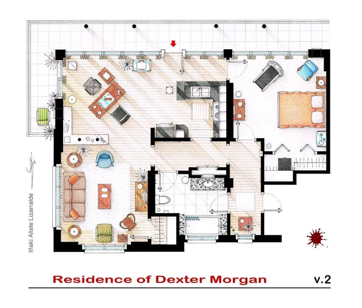 From Friends to Frasier: 13 Famous TV Shows Rendered in Plan,© Iñaki Aliste Lizarralde