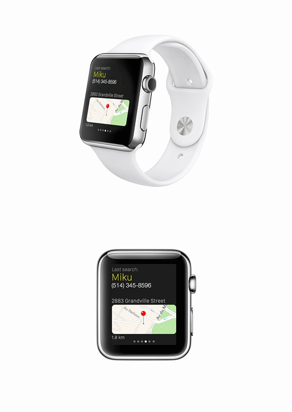 yp.ca - apple watch - glance on Behance