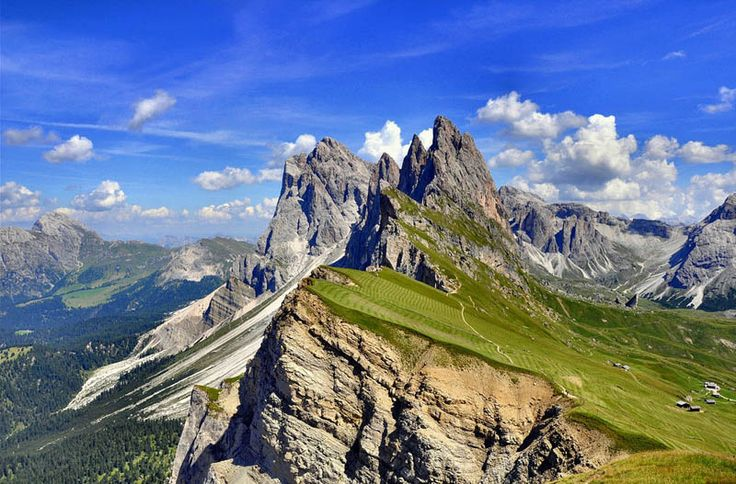 Just don't have your tractor go over the top! Mountain farming in Italy - Bolzano-Bozen province.