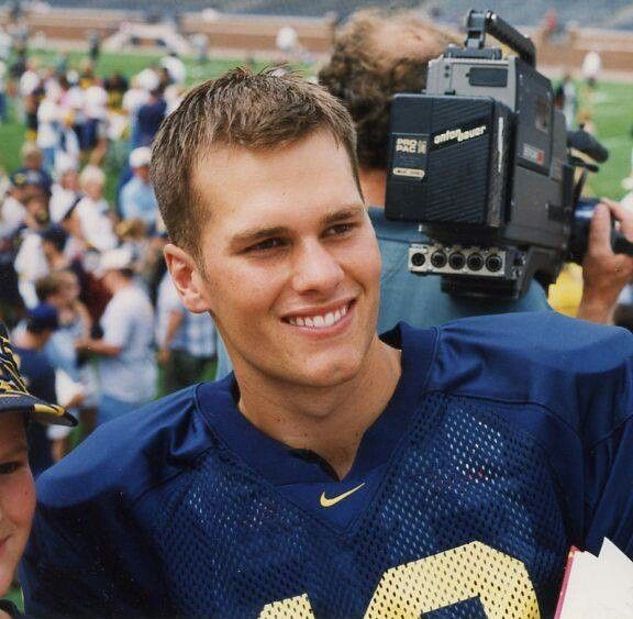 Tom Brady while at the University of Michigan