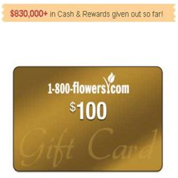 Here's How To Get A 1-800 Flowers Gift Card! - Have you ever heard of 1-800 Flowers? It's a floral and gourmet foods gift retailer and distribution company in the United States. It was one of the first retailers to use a 24 x 7 toll-free telephone number and the Internet for direct sales to consumers.  You can enter your email address here for a chance to get a 1-800 Flowers gift card. Take action now while this offer still lasts. Best of luck!