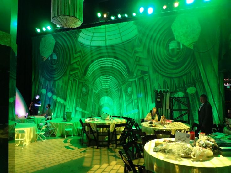 TheatreWorld's Emerals CIty Great hall Backdrop at WIZARD OF OZ 75 Anniversary Party