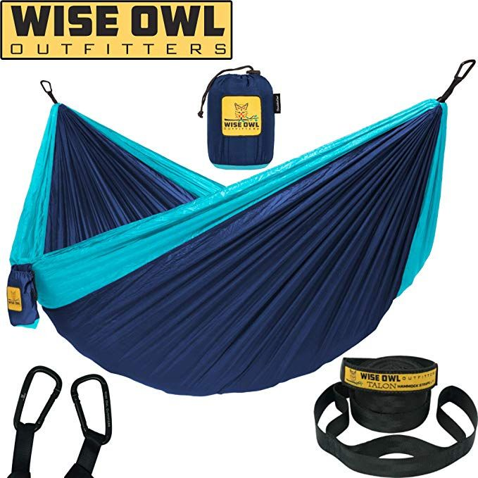 Wise Owl Outfitters Hammock Camping Double Single With Tree Straps Usa Based Hammocks Brand Gear Indoor Double Camping Hammock Tree Straps Hammock Camping