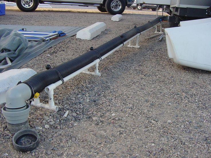 DIY PVC sewer hose support for $30