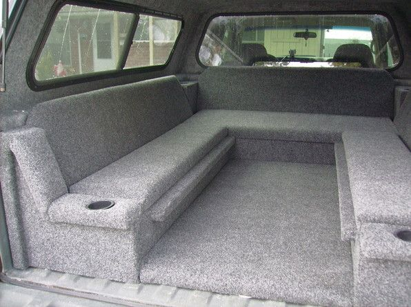 truck bed sleeping platform, might make something similar for Kelsey's truck after she gets her camper/topper.