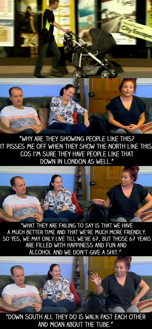 """When BBC News reported on the economy in the north of England and showed deprivation like this. 