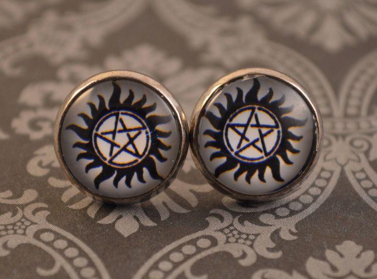 Supernatural Anti-Possession Earrings by ArtzyFartzyNerd on Etsy https://www.etsy.com/listing/545409223/supernatural-anti-possession-earrings