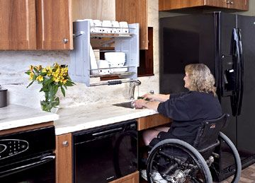 Wheelchairs kitchens and awesome on pinterest for Wheelchair accessible kitchen ideas