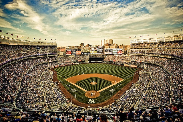 New Yankee Stadium - we were there for the Subway series....the only reason a Met's fan would be there!