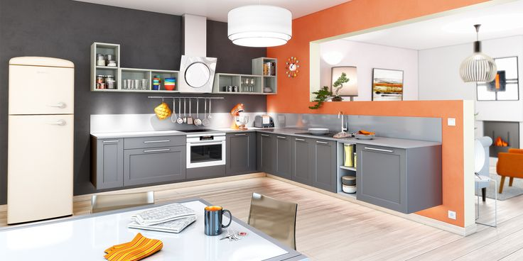 cuisine ouverte coloris gris anthracite cuisines you mod le mars cuisines modernes. Black Bedroom Furniture Sets. Home Design Ideas