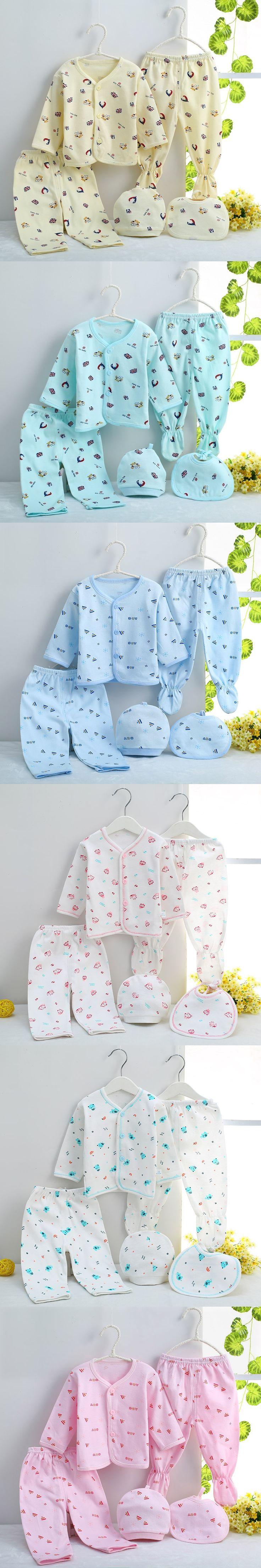 (5pcs/set)Newborn Baby 0-3M Clothing Set Cheap Baby Boy/Girl Clothes 100% Cotton high quality Cartoon Underwear