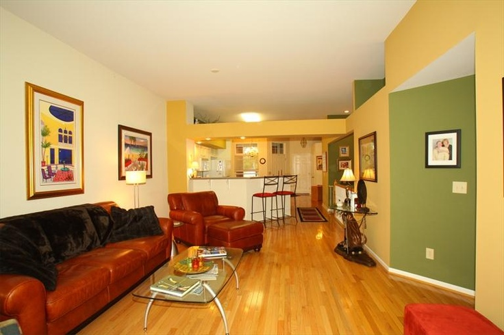 Green And Yellow Walls In This Living Room Interesting Stylish Pinterest Green Accent