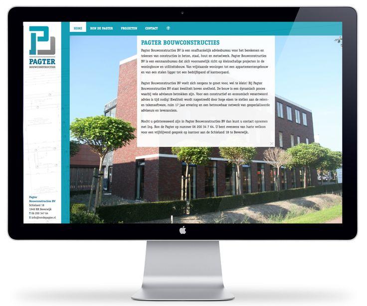 Website design voor Pagter Bouwconstructies