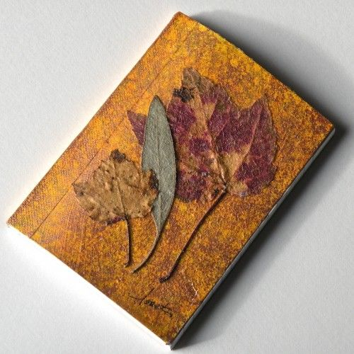 Honor the warm and healing verve of Nature with this little handcrafted pocket journal! $14: Beautiful Handcrafted, Nature Inspiration Minis, Crafts Ideas, Journals, Artfir Handmade, Leaves Natural Inspiration, Healing, Natural Inspiration Minis, Leaves Nature Inspiration