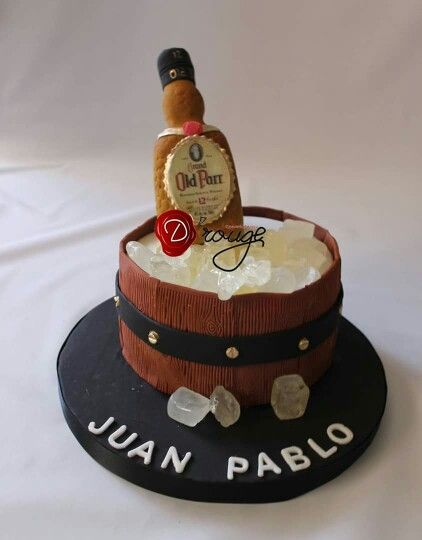 Torta Old Parr 100 % Comestible.