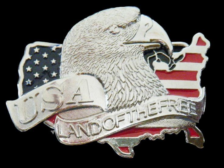 USA Flag Belt Buckle US Land Of The Free Bald Eagle Buckles #eagle #eagles #eaglebuckle #eaglebeltbuckle #flyingeagle #baldeagle #americaneagle #beltbuckles #coolbuckles #buckle #flag #flagofusa #usaflag