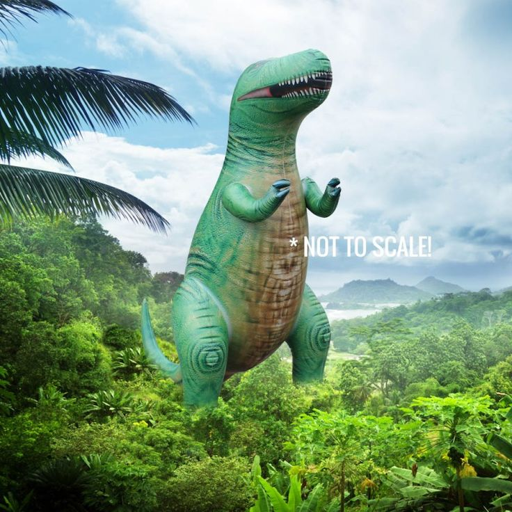 Giant inflatable dinosaurs? Yes please!