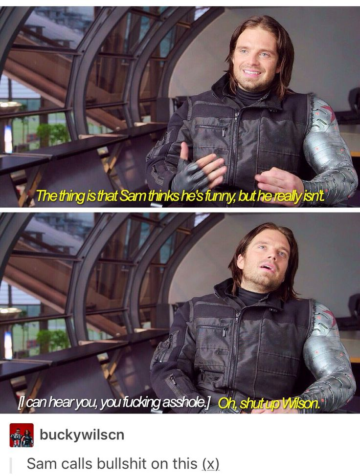 Sam and Bucky jokes part 1/2 // Bucky Barnes, Sam Wilson, the falcon, sambucky, buckysam, winterfalcon, marvel, mcu, avengers