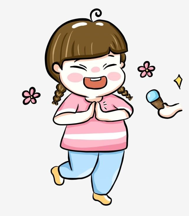 Summer Summer Happy Excitement Eating Ice Lolly Popsicle Small Flower Png Transparent Clipart Image And Psd File For Free Download Happy Cartoon Little Girl Illustrations Lollies