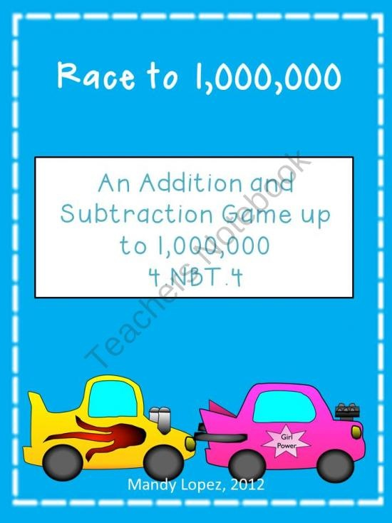 15 best 4nbt3 rounding images on pinterest fourth grade common core math standard 4nbt4 race to one million an addition and subtraction game fandeluxe Gallery