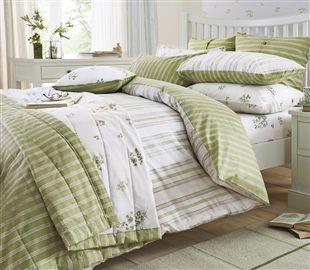 BEDROOM - Buy 2 Pack Green Floral Sprig Bed Set from the Next UK online shop