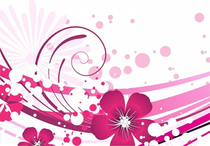 FLOWERS / Free vector Vector flower Pink Flower with Abstract Background Vector Graphic