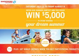Shoppers Drugmart Summer Contest Win Trip to Jamaica & Instant Prizes