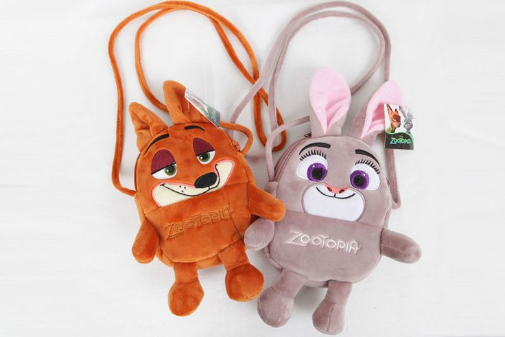 Disney Official Zootopia Cute Judy & Nick Character Mini Suede Cross-Body…