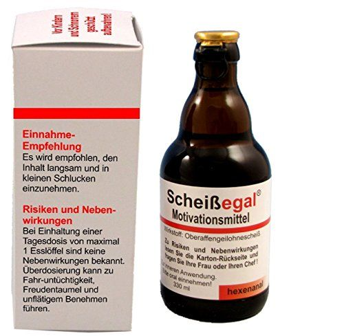 """Sale Preis: Witzige Bierflasche """"Scheißegal"""" , Bier 0,33 l. Gutscheine &…"""