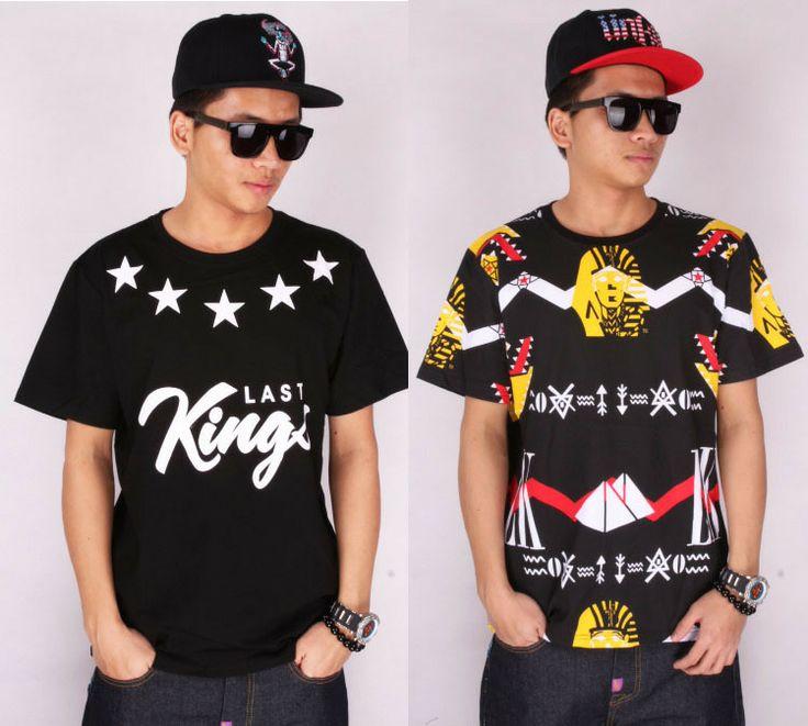 Good quality cotton last kings mens t shirt 2014 New lk hip hop rock o-neck short sleeve tshirt pyrex clothing medusa